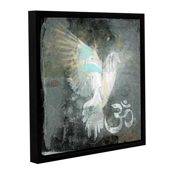 Brushstone Om Dove Gallery Wrapped Floater-FramedCanvas Wall Art