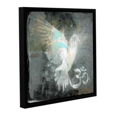 Brushstone Om Dove Gallery Wrapped Floater-FramedCanvas Wall Art