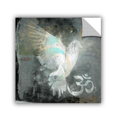 Brushstone Om Dove Removable Wall Decal