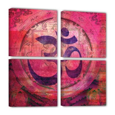 Brushstone Om Mandala 4-pc. Square Gallery Wrapped Canvas Wall Art