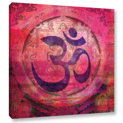 Brushstone Om Mandala Gallery Wrapped Canvas WallArt