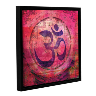 Brushstone Om Mandala Gallery Wrapped Floater-Framed Canvas Wall Art