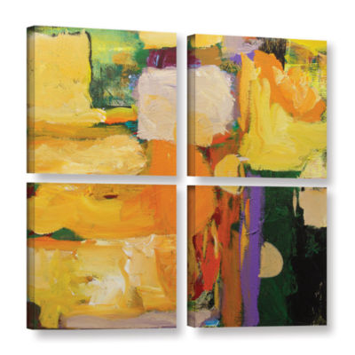 Brushstone Omar 4-pc. Square Gallery Wrapped Canvas Wall Art