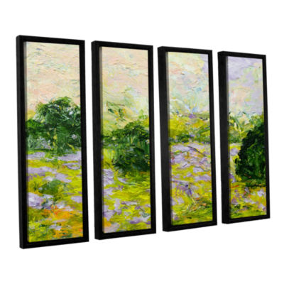 Brushstone Leicester 4-pc. Floater Framed Canvas Wall Art