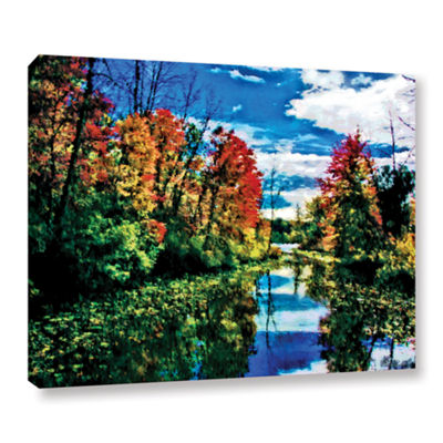 Brushstone Lake Channel Gallery Wrapped Canvas Wall Art