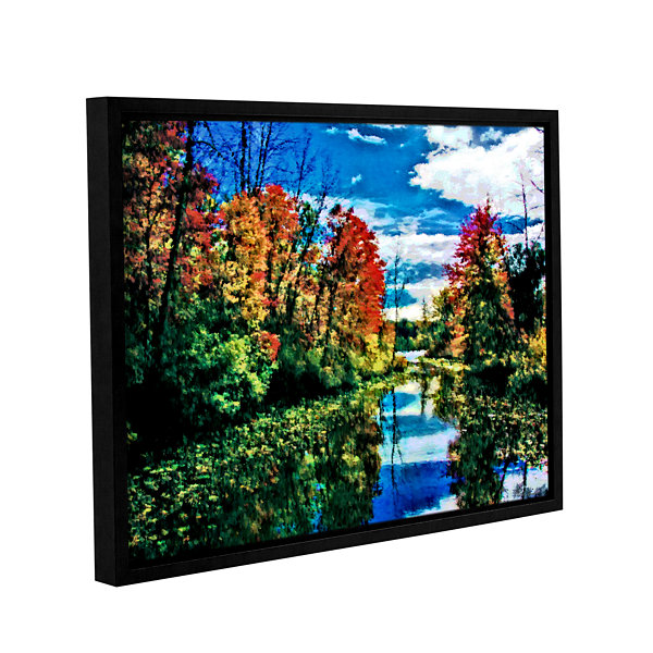 Brushstone Lake Channel Gallery Wrapped Floater-Framed Canvas Wall Art