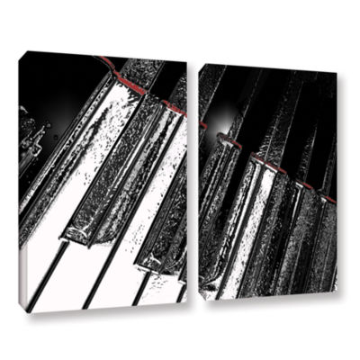 Brushstone On The Note 2-pc. Gallery Wrapped Canvas Wall Art