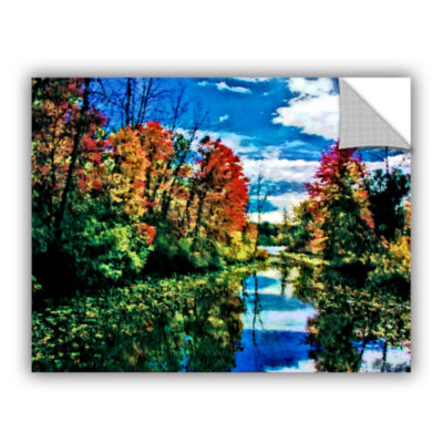 Brushstone Lake Channel Removable Wall Decal