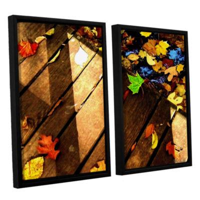 Brushstone Leaf_Study2 2-pc. Floater Framed CanvasWall Art