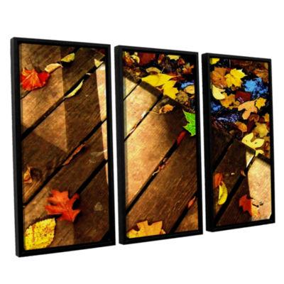 Brushstone Leaf_Study2 3-pc. Floater Framed CanvasWall Art
