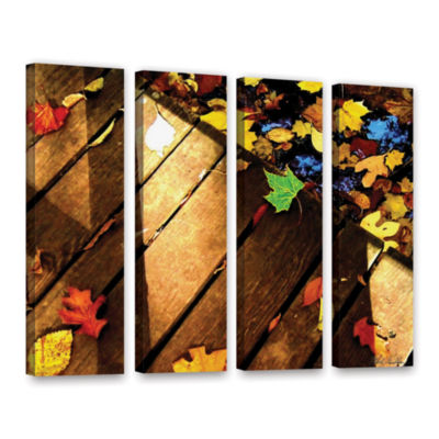 Brushstone Leaf Study 2 4-pc. Gallery Wrapped Canvas Wall Art