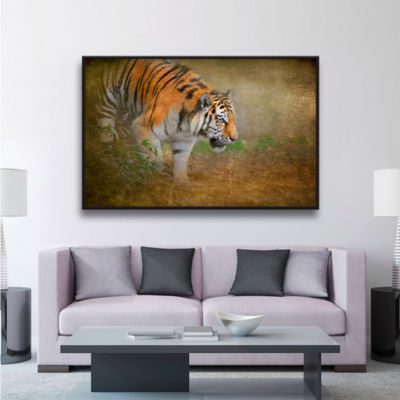 Brushstone On The Prowl Gallery Wrapped Floater-Framed Canvas Wall Art
