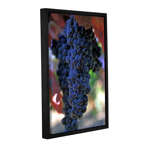Brushstone On The Vine Gallery Wrapped Floater-Framed Canvas Wall Art