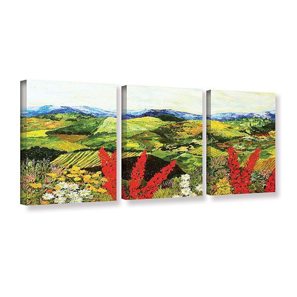 Brushstone One More Step 3-pc. Gallery Wrapped Canvas Wall Art
