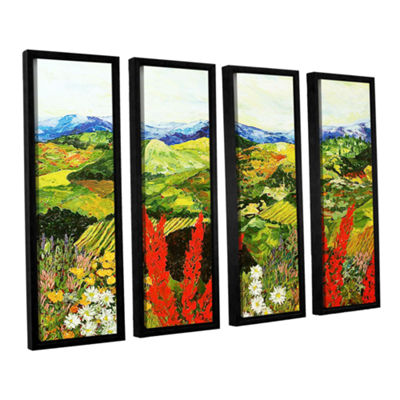 Brushstone One More Step 4-pc. Floater Framed Canvas Wall Art