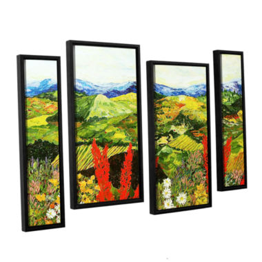 Brushstone One More Step 4-pc. Floater Framed Staggered Canvas Wall Art