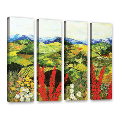 Brushstone One More Step 4-pc. Gallery Wrapped Canvas Wall Art