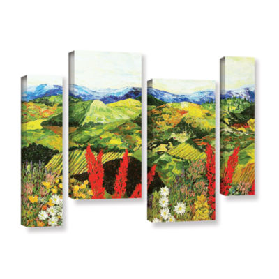 Brushstone One More Step 4-pc. Gallery Wrapped Staggered Canvas Wall Art