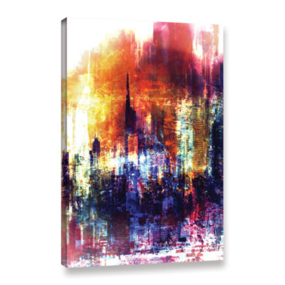 Brushstone Light Gallery Wrapped Canvas Wall Art