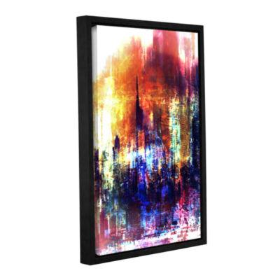 Brushstone Light Gallery Wrapped Floater-Framed Canvas Wall Art