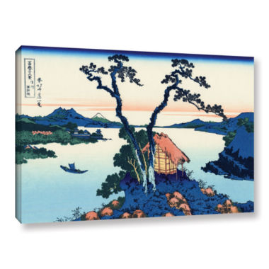 Brushstone Lake Suwa In The Shinano Province Gallery Wrapped Canvas Wall Art
