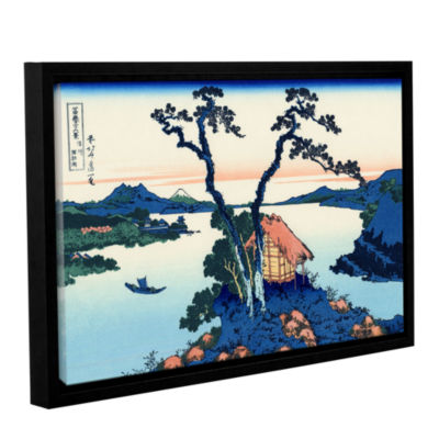 Brushstone Lake Suwa In The Shinano Province Gallery Wrapped Floater-Framed Canvas Wall Art