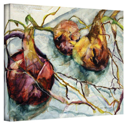 Brushstone Onions Gallery Wrapped Canvas Wall Art