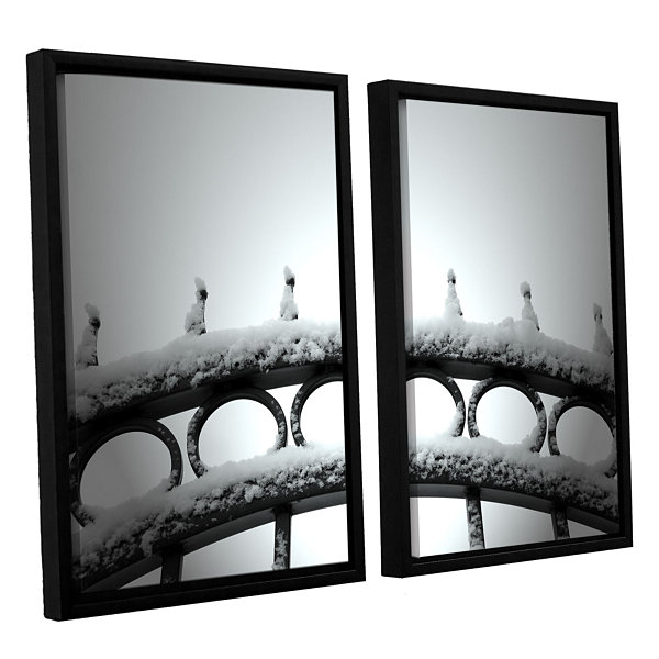 Brushstone Only Opens In 2-pc. Floater Framed Canvas Wall Art