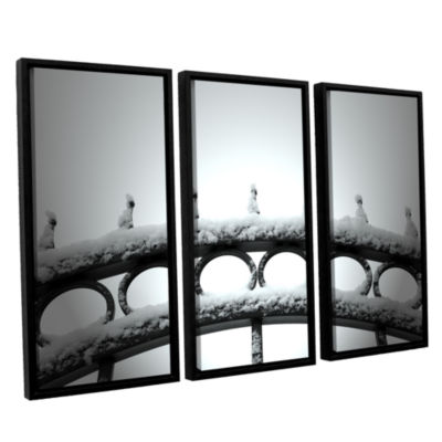 Brushstone Only Opens In 3-pc. Floater Framed Canvas Wall Art