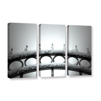 Brushstone Only Opens In 3-pc. Gallery Wrapped Canvas Wall Art
