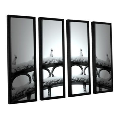 Brushstone Only Opens In 4-pc. Floater Framed Canvas Wall Art