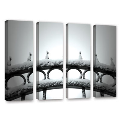Brushstone Only Opens In 4-pc. Gallery Wrapped Canvas Wall Art