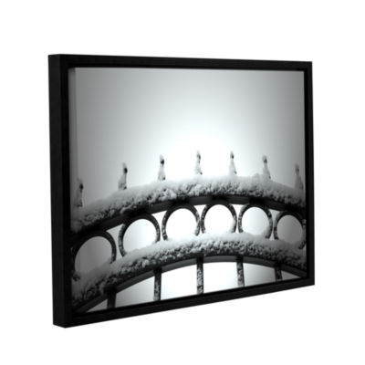 Brushstone Only Opens In Gallery Wrapped Floater-Framed Canvas Wall Art
