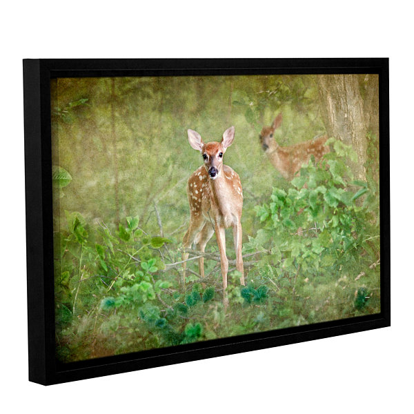 Brushstone Leering Doe Gallery Wrapped Floater-Framed Canvas Wall Art