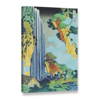 Brushstone Ono Waterfall On The Kisokaido Gallery Wrapped Canvas Wall Art