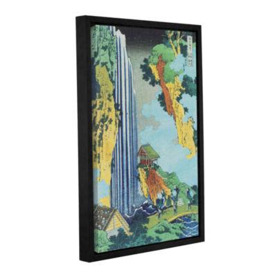 Brushstone Ono Waterfall On The Kisokaido GalleryWrapped Floater-Framed Canvas Wall Art