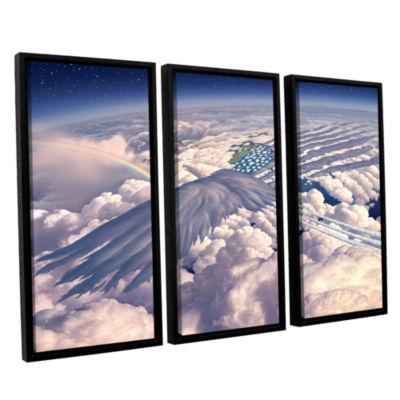 Brushstone Onward 3-pc. Floater Framed Canvas WallArt