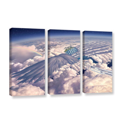 Brushstone Onward 3-pc. Gallery Wrapped Canvas Wall Art
