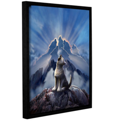 Brushstone Leader Of The Pack Gallery Wrapped Floater-Framed Canvas Wall Art