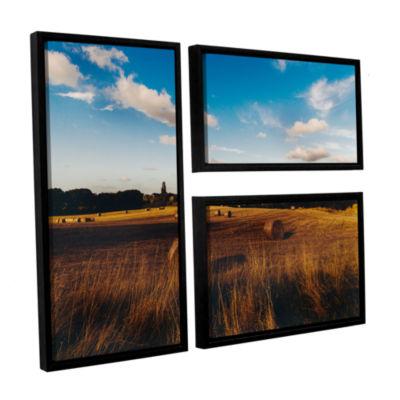 Brushstone Open Fields 3-pc. Flag Floater Framed Canvas Wall Art