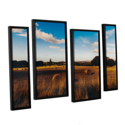 Brushstone Open Fields 4-pc. Floater Framed Staggered Canvas Wall Art