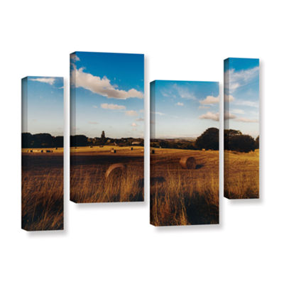 Brushstone Open Fields 4-pc. Gallery Wrapped Staggered Canvas Wall Art