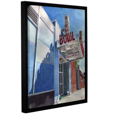 Brushstone Open Lanes Gallery Wrapped Floater-Framed Canvas Wall Art