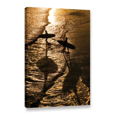 Brushstone Opposite Surfers Gallery Wrapped CanvasWall Art