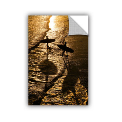 Brushstone Opposite Surfers Removable Wall Decal