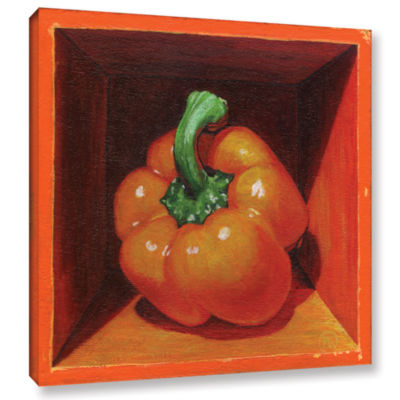Brushstone Orange Bell Gallery Wrapped Canvas WallArt