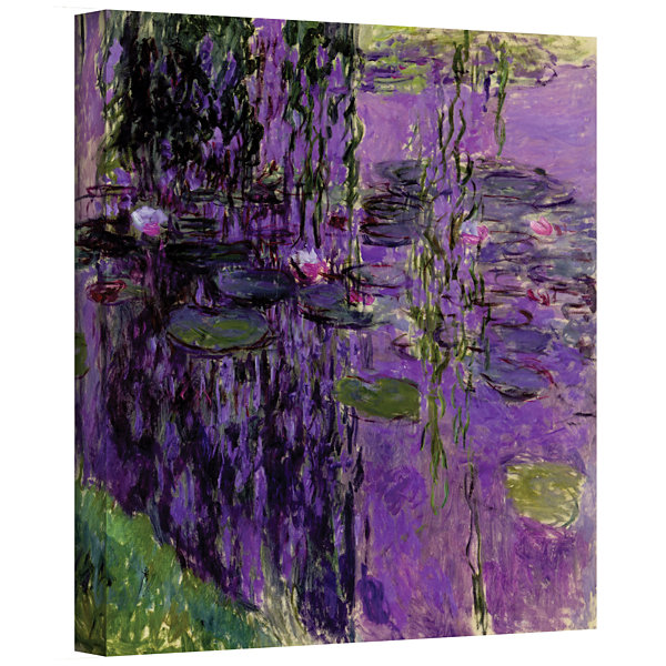 Brushstone Lavender Water Lillies Gallery WrappedCanvas Wall Art
