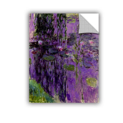 Brushstone Lavender Water Lillies Removable Wall Decal