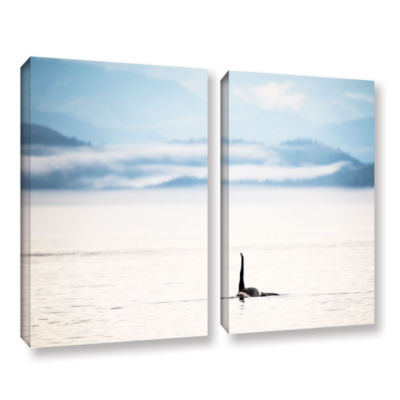 Brushstone Orcha Seascape 2-pc. Gallery Wrapped Canvas Wall Art