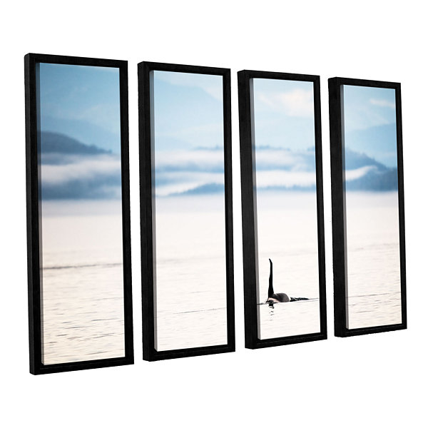 Brushstone Orcha Seascape 4-pc. Floater Framed Canvas Wall Art